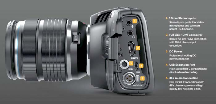 Blackmagic Pocket Cinema Camera 4K Introducing the next generation handheld  4K digital film camera!